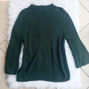 Anthropologie moth dark green sweater